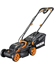 "Worx WG779.9 Mulching Capabilities and Intellicut, WG779 40V Cordless 14"" Lawn Mower Bare Tool Only, Black and Orange"