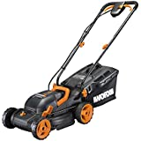 """Worx WG779 40V (4.0AH) Cordless 14"""" Lawn Mower with Mulching Capabilities and Intellicut, Dual Charger, 2 Batteries"""