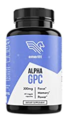 ** A well-researched product** Alpha GPC a promotes the creation of acetylcholine, essential to your brain for memory and learning. It may help increase focus, energy, and power output, while also preventing long-term cognitive decline. **A c...
