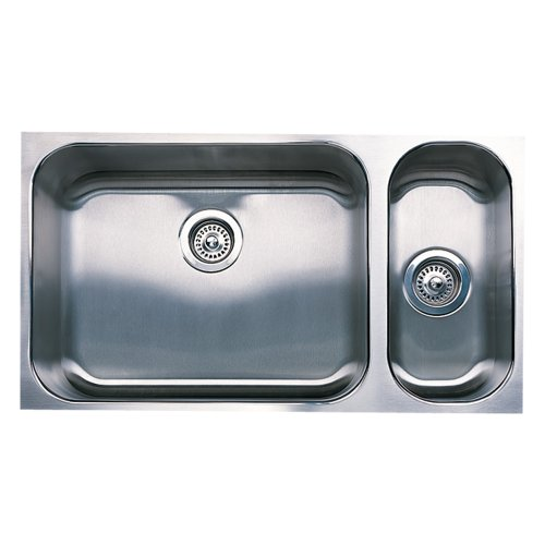 Blanco 501-308 Spex Plus 1-1/2 Bowl Undermount Kitchen Sink, Satin (1 1/2 Bowl Undermount Sink)