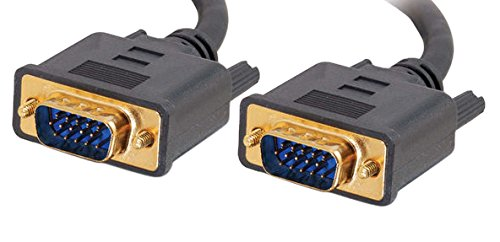 (C2G 28247 VGA Cable - Flexima VGA Monitor Cable M/M, In-Wall CL3-Rated, Black (50 Feet, 15.24 Meters))