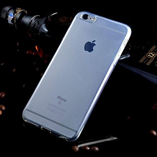 Coque iphone 7 + Verre trempé écran protecteur , Leathlux Transparente Souple Silicone Étui Protection Bumper Housse Clair Doux TPU Gel Ultra Mince Case Cover per iphone 7 4.7 Pouces