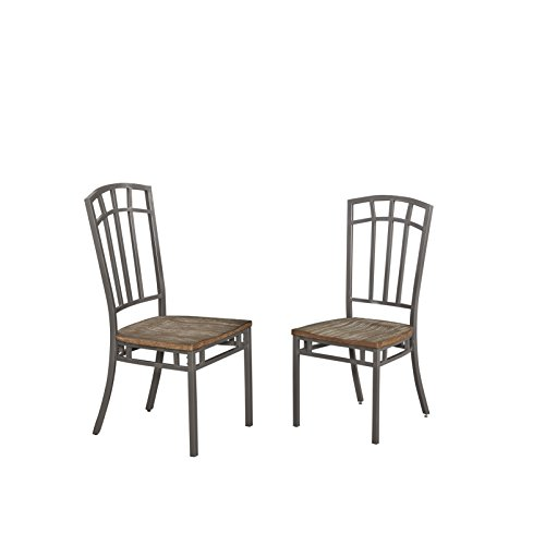 """Home Styles 5053-802 Barnside Metro Pair of Dining Chairs W-18"""", D-18"""", H-40"""" Driftwood"""