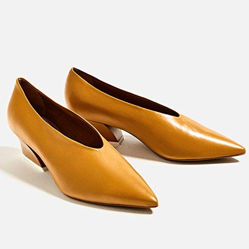 scarpe GTVERNH tacco donna da Ginger da lavoro il piccolo scarpe delle in scarpe tacco in delle tacco autunno e delle pendio primavera con 88Ywvr