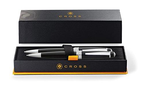 Cross Bailey Black Lacquer Ballpoint Pen & 0.7mm Pencil