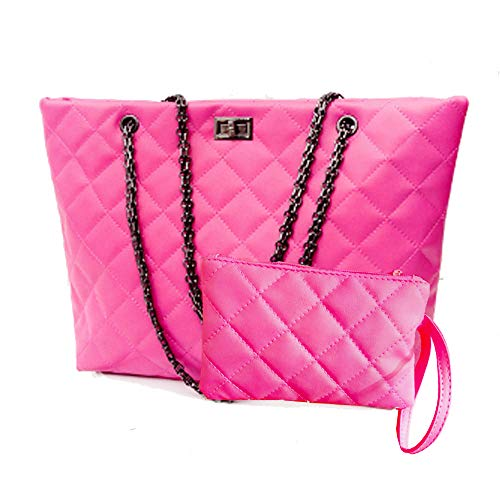 Quilted Handbags for Women Metal Chain Strap Purses Shoulder Bags ()