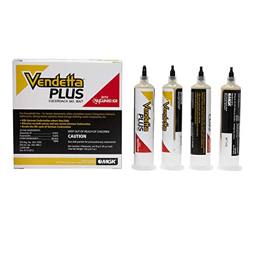 Vendetta Plus Cockroach Gel Bait (4tubes) Roach Bait & Igr Roach Killer Paste Not For Sale To: California