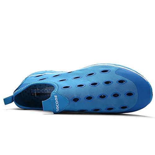 Gomnear Chaussures De Leau Légère Maille Femmes Anti-dérapant Respirant Slip-on Sport Marche Conduite Chaussures Décontractées Bleu