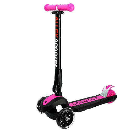 Allek Scooters for Kids, Wide Deck 3 Wheels Scooter for 3 Years and Up with T-Bar Handle 150lb Weight Limit Kick Scooter