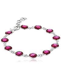 "Red Ruby Bracelet, 8"""