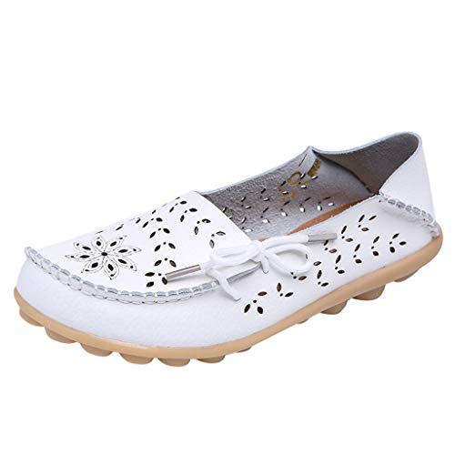 - Toimothcn Artificial Leather Loafers Women'S Casual Driving Moccasins Flats Shoes Soft Nurs Maternity Sanda(White2,US:8.5)