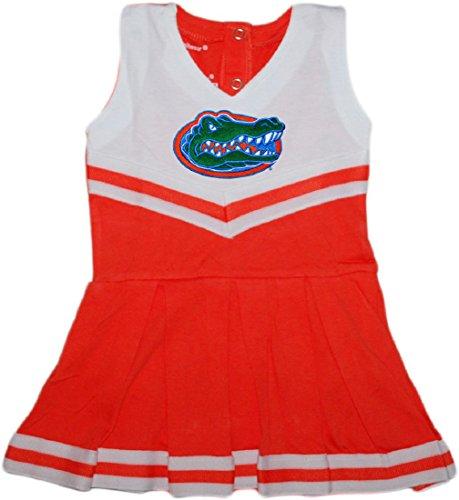 (University of Florida Gators Baby and Toddler Cheerleader Bodysuit Dress Orange)