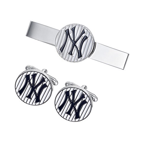 Promotioneer Men's Professional Baseball Team Logo Symbol Series Cufflinks and Tie Clip Tie Bar 04 - Mlb Necktie