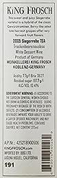 2005 King Frosch Siegerrebe Trockenbeerenauslese 375 mL