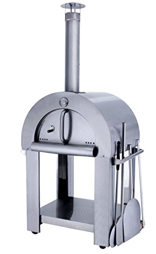 32.5'' Wood Fired Outdoor Stainless Steel Artisan Pizza Oven or Grill for Outdoor or Indoor by MCP-Distributions