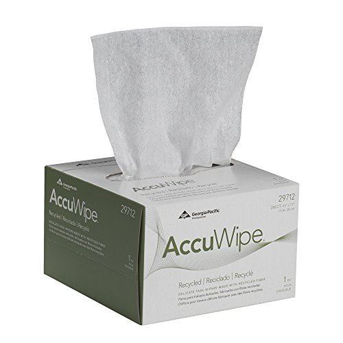 Georgia-Pacific AccuWipe 29712 White Recycled 1-Ply Delicate