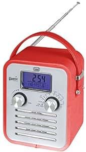 Trevi VRA 782 Portátil Rojo - Radio (Alcalino, AA, Portátil, LCD, AM, FM, 88 - 108 MHz)