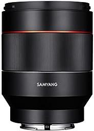 Samyang SYIO50AF-E - Lente de Enfoque automático para Sony E-Mount, 50 mm, F1.4, Marco Completo, Color Negro