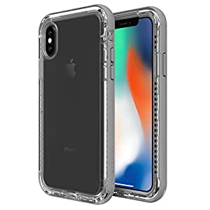 Lifeproof Next for iPhone X Case (BEACH PEBBLE (CLEAR / SLEET GRAY))