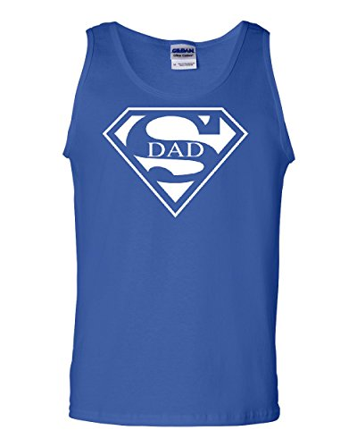 Super Dad Tank Top Funny Superhero Father's Day Muscle Shirt Blue M for $<!--$12.99-->