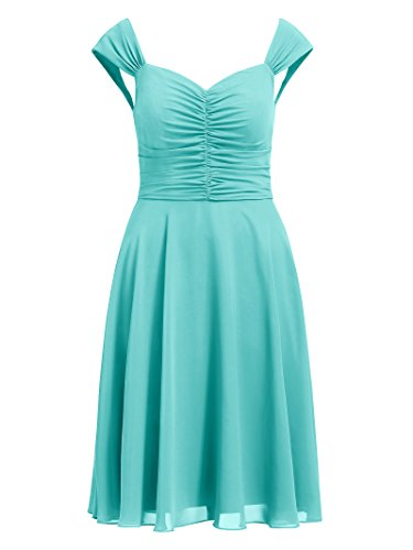 Short Gown Formal Women's Chiffon Party blue Aqua Dress Dresses Bridesmaid Event Prom Alicepub qHROvwIWw