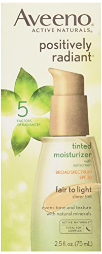 Aveeno, Facial Moisturizers Positively Radiant Daily Moist, SPF 30, Fair to Light, 2.5 oz (Positively Radiant Moisturizer compare prices)