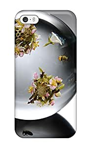 Flowers In Marbles Case Compatible With Iphone 5/5s/ Hot Protection Case