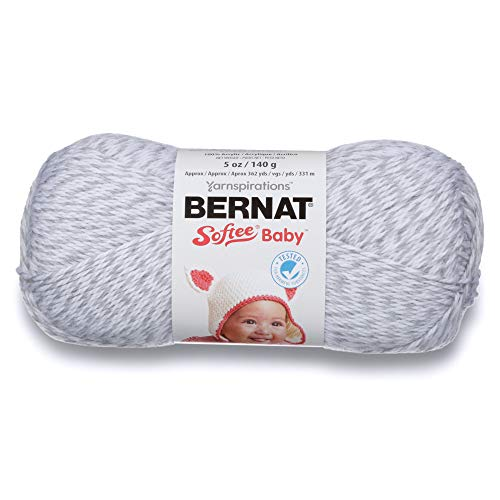 Bernat Softee Baby Yarn, 5 oz, Gauge 3 Light, Grey Marl