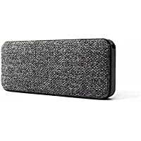 Palo Alto Technologies WoolBox Portable Bluetooth Wireless Speaker IPX7 Waterproof with Grey Fabric Design, 10W Stereo Surround Sound with Enhanced Bass and Built-in Mic