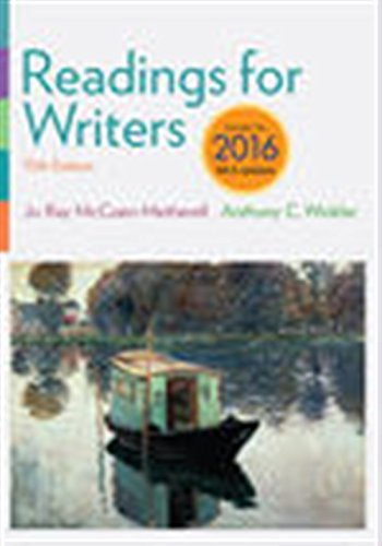 Readings for Writers, 2016 MLA Update