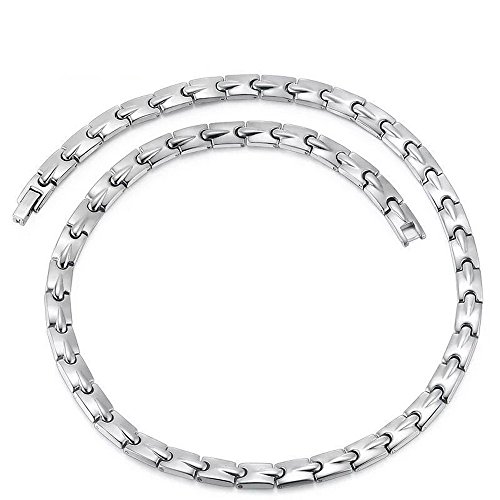 (Pure Titanium Magnetic Therapy Chain Necklace for Neck Arthritis Headaches)