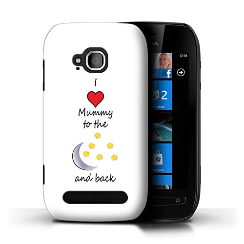 STUFF4 Phone Case/Cover for Nokia Lumia 710 / I Love Mummy/Moon Design/I Love My Mummy Daddy Collection