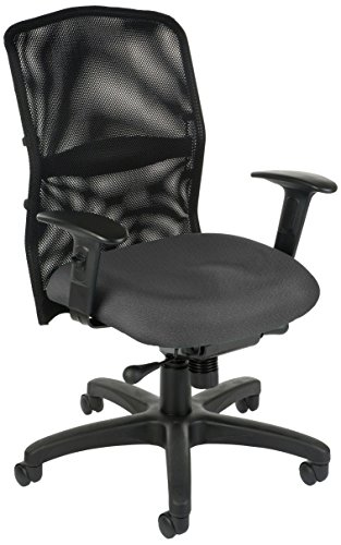 "UPC 811588014767, OFM 610-8174 ""Air Flo"" Mesh Task Chair, Black and Gray"