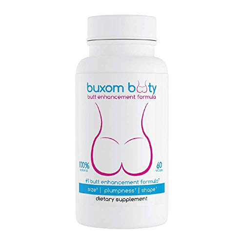 Buxom Booty Butt Enhancement Pills 2X Potent Top Results Rated Herbal Formula 100% Natural Vcaps (30 Day Supply)