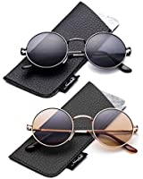 Buy Small Retro Lennon Inspired Style Colored Mirror Lens