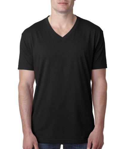 Next Level Men's Premium CVC V-Neck Tee L Black (Cvc Tee V-neck)