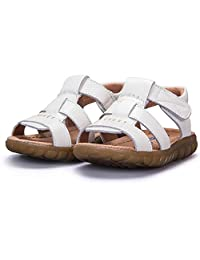 Bumud Boys Girls Casual Leather Open Toe Outdoor Sandal Shoe(Toddler/Little Kid/Big Kid)