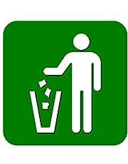 Gezondheids- en veiligheidsborden, tekens, stickers, gevaren, toilet, CCTV, Wifi, waarschuwing, voorzichtig, 10 cm x 10 cm