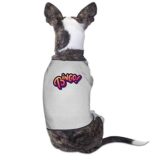 Jmirelife Puppy Dogs Shirts Costume Pets Clothing Bingo Small Dog Clothes Vest
