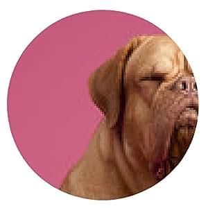 alfombrilla de ratón Francés perro mastín con los ojos cerrados - ronda - 20cm