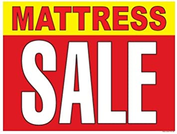 P75-50 x 38 P75MAT Horizontal Posters Mattress Sale Furniture and Mattress Vinyl Window Sale Sign Posters Retail Business Store Signs