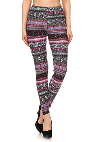 - 41NIRMhfrNL - Leggings Mania Women's Regular Plus (XS-3XL) Printed High Waist Ultra Soft Always Leggings – Many Patterns