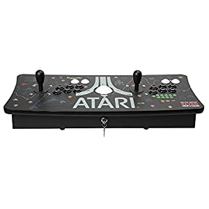 Atari Arcade Fightstick USB Dual Joystick 2 Player Game Controller for PC Mac Raspberry Pi Console Xbox PC Version PS3 with Trackball (Color: Fightstick-Trackball, Tamaño: Fightstick-Trackball)