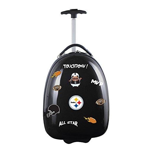 Pittsburgh Steelers Luggage Tag (Denco NFL Pittsburgh Steelers Kids Lil' Adventurer Luggage Pod, Black)