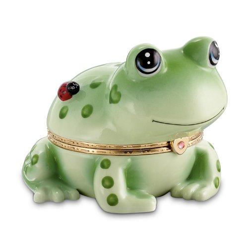 Hoppy Frog Heirloom Porcelain Animoges Music Box by The Bradford Exchange