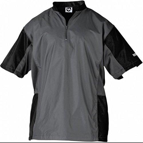 Worth TSJ Titan Short Sleeve Batting Jacket - Grey/Black