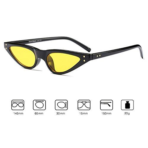 Lunettes de soleil Vintage Cat Eye UV400 hibote Petites lunettes de soleil Femme C5 hJINr