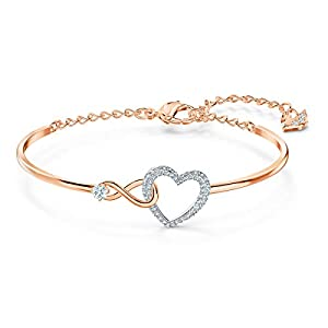 Swarovski Bracciale Rigido Infinity Heart, Bianco, Mix Di Placcature 5