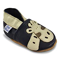 Petit Marin Beautiful Soft Leather Baby Shoes with Suede Soles – Toddler / In...