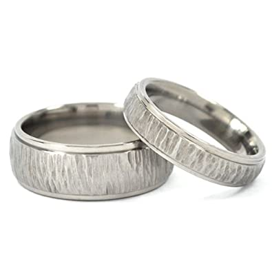titanium rings for him and her matching wedding rings titanium bands - Amazon Wedding Rings